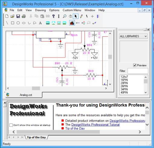 DesignWorks For Windows Screen shot